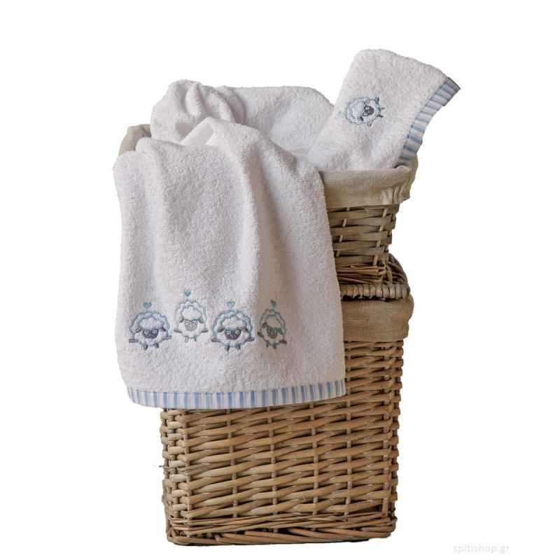 Βρεφικές Πετσέτες (Σετ 2τμχ) Kentia Baby Lester