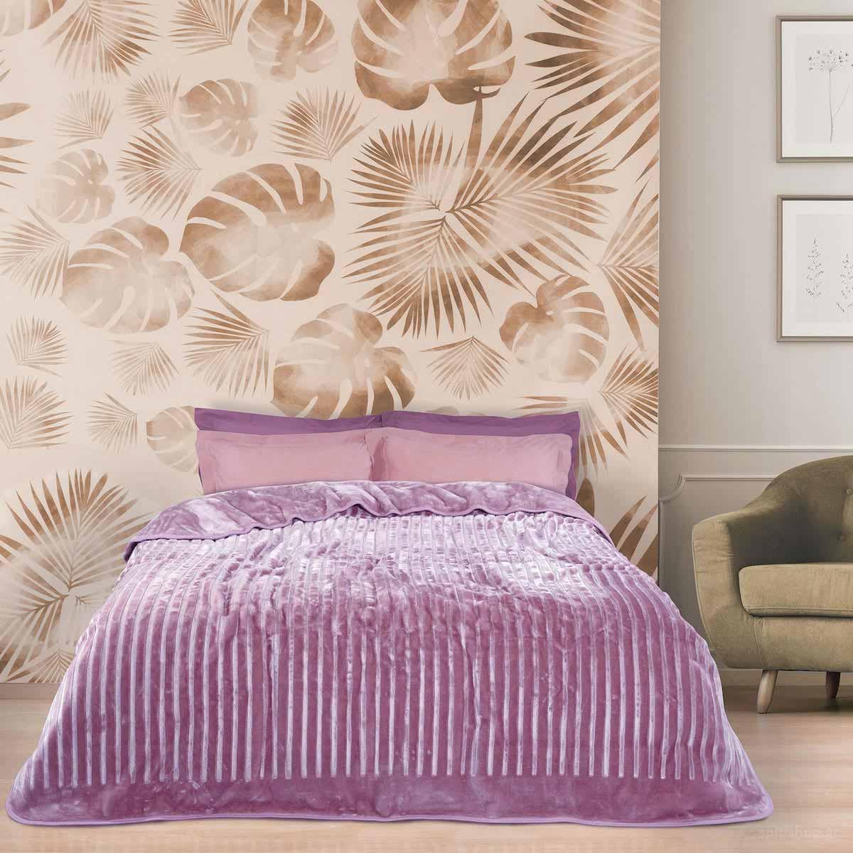 Κουβέρτα Βελουτέ Μονή Das Home Blanket Line 0449 Lilac