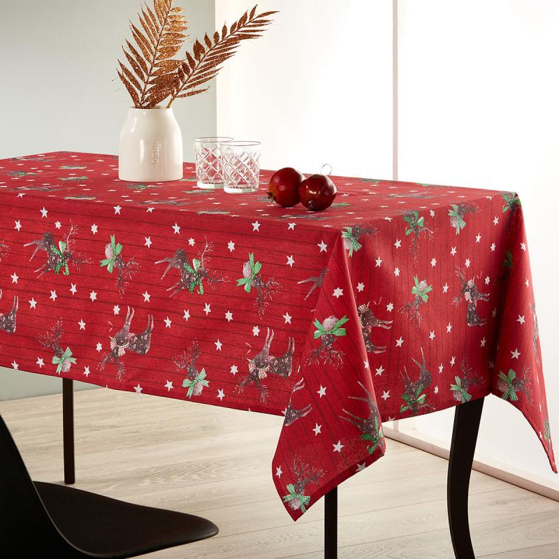 Χριστουγεννιάτικο Τραπεζομάντηλο (140x220) Whitegg Lon10