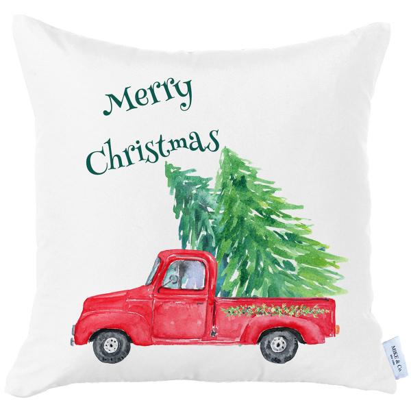 Χριστουγεννιάτικη Μαξιλαροθήκη (45x45) Mike & Co 712-3843-1