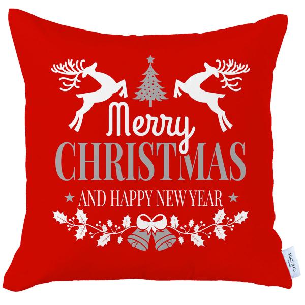 Χριστουγεννιάτικη Μαξιλαροθήκη (45x45) Mike & Co 712-3819-1