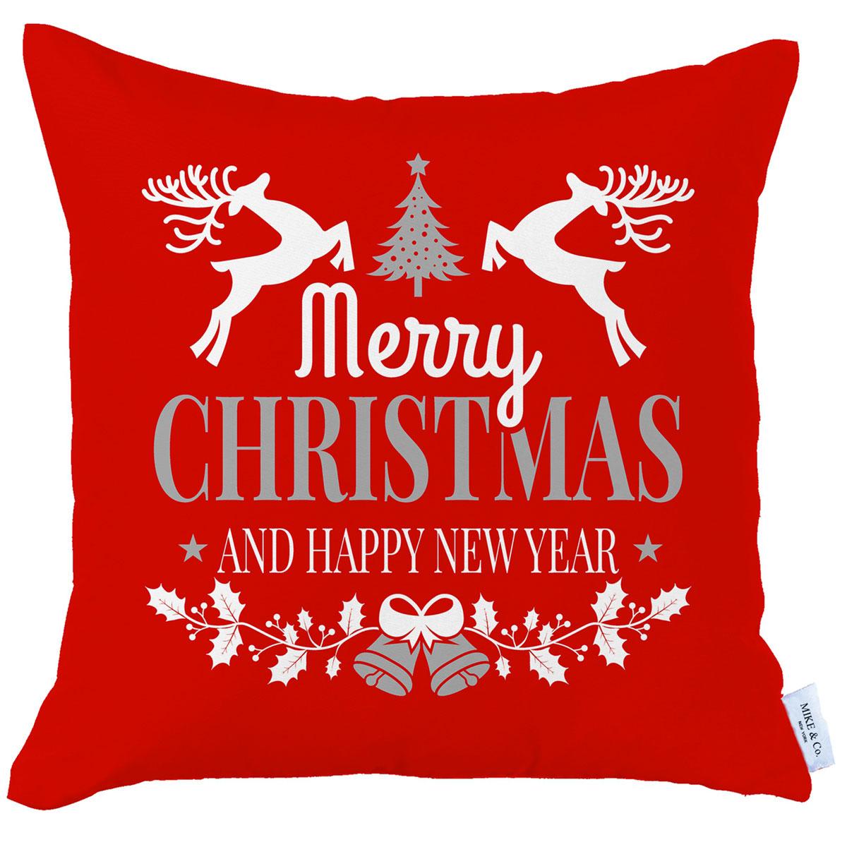 Χριστουγεννιάτικη Μαξιλαροθήκη (45×45) Mike & Co 712-3819-1