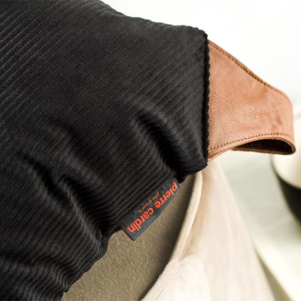 Διακοσμητική Μαξιλαροθήκη (45x45) Pierre Cardin Tweed Black