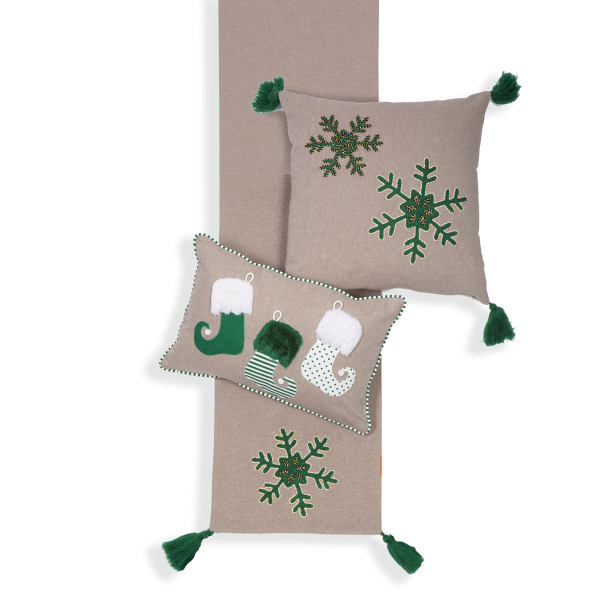 Χριστουγεννιάτικη Τραβέρσα Nef-Nef Snow Time