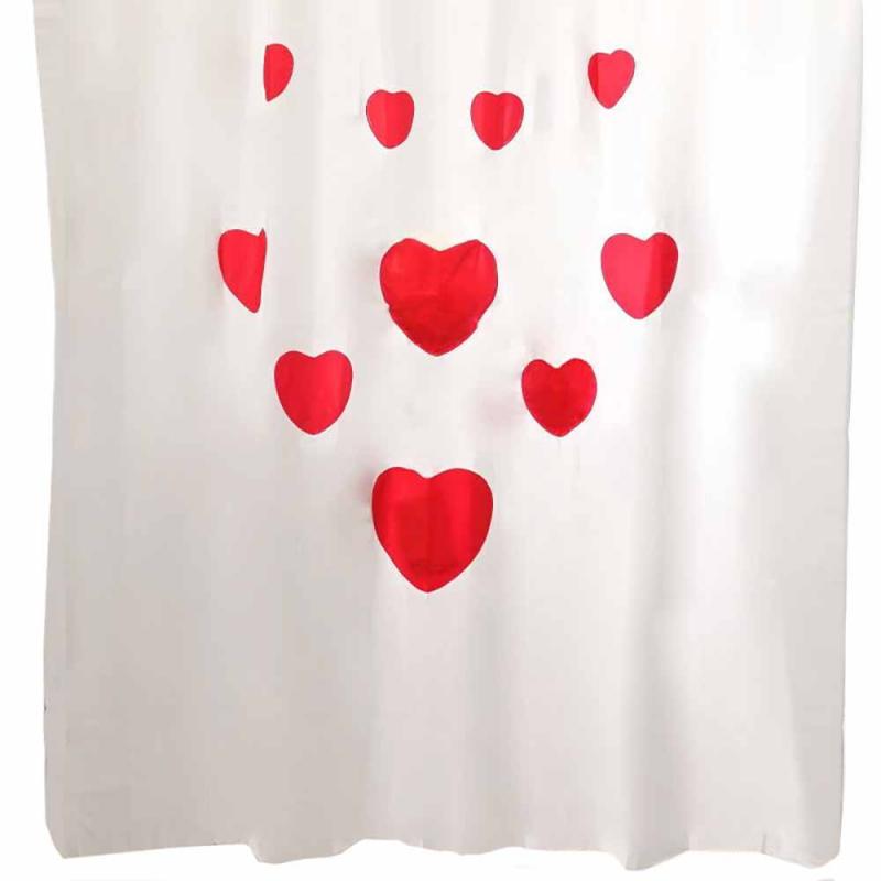 Κουρτίνα Μπάνιου Πλαστική (180x200) Palamaiki Hearts