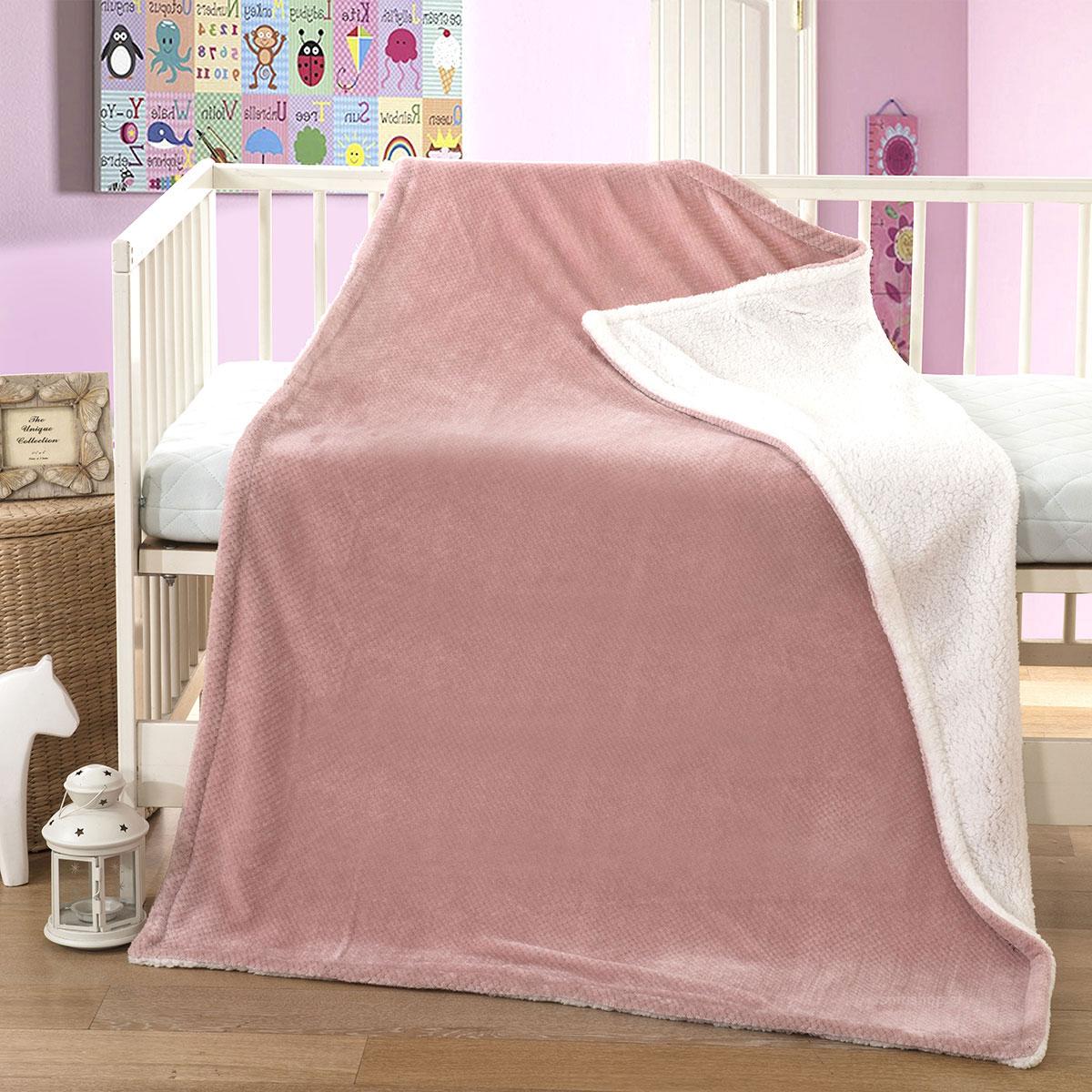 Κουβέρτα Fleece Κούνιας Anna Riska Cozy Blush Pink