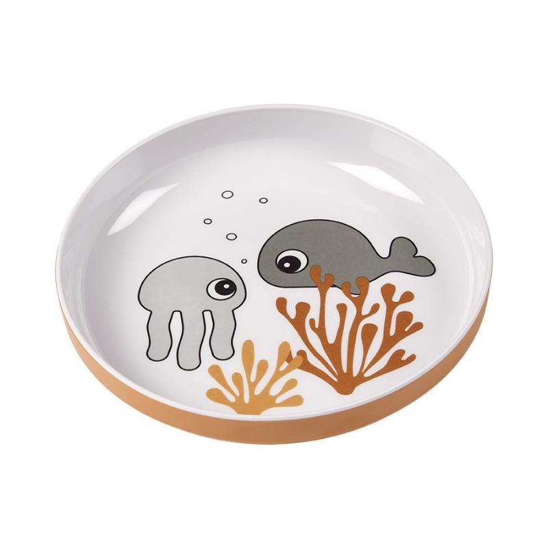 Πιάτο Done By Deer Yummy Mini Sea Friends Mustard BR75265