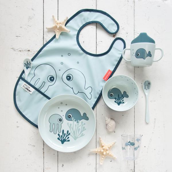 Μπωλ Done By Deer Yummy Mini Sea Friends Blue BR75261