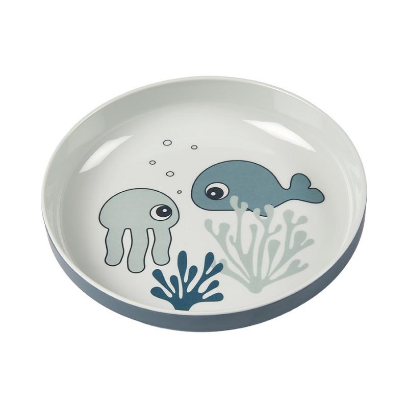 Πιάτο Done By Deer Yummy Mini Sea Friends Blue BR75264