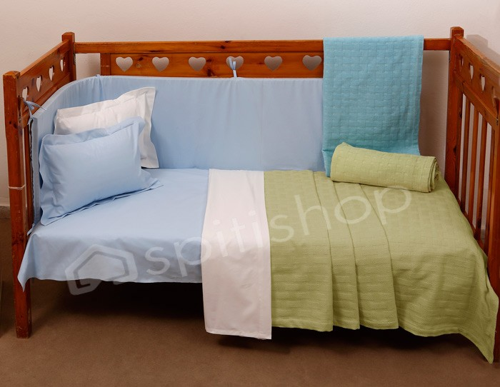 Κουβερτόριο Κούνιας Anna Riska Baby Dominic Green home   βρεφικά   κουβέρτες βρεφικές   κουβέρτες καλοκαιρινές