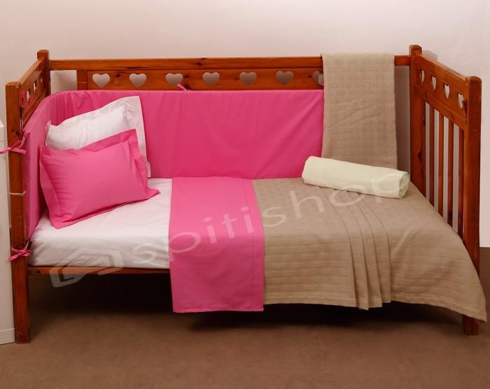 Κουβερτόριο Κούνιας Anna Riska Baby Dominic Beige home   βρεφικά   κουβέρτες βρεφικές   κουβέρτες καλοκαιρινές