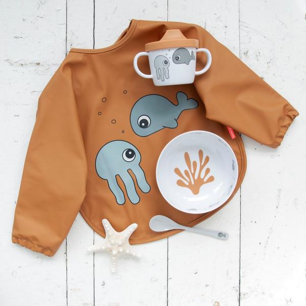Παιδικό Σετ Φαγητού 3τμχ Done By Deer First Meal Sea Friends Mustard-Grey BR75277