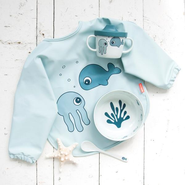Παιδικό Σετ Φαγητού 3τμχ Done By Deer First Meal Sea Friends Blue BR75276