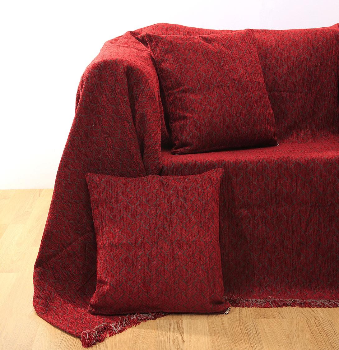 Ριχτάρι Πολυθρόνας (150x180) Anna Riska Des 1422 Red