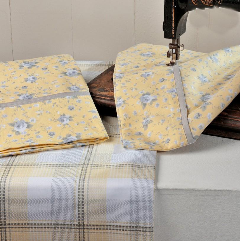 Παπλωματοθήκη Υπέρδιπλη (Σετ) Down Town Queen Annie Yellow S 640 home   κρεβατοκάμαρα   παπλωματοθήκες   παπλωματοθήκες υπέρδιπλες