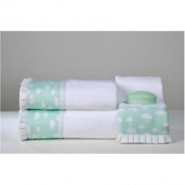 Παιδικές Πετσέτες (Σετ 3τμχ) Down Town Συννεφάκι Aqua