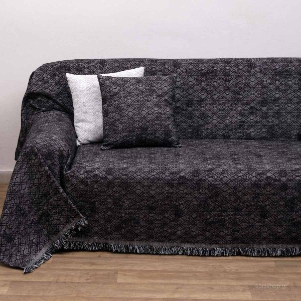 Ριχτάρι Πολυθρόνας (150x180) Viopros 2203 Μαύρο
