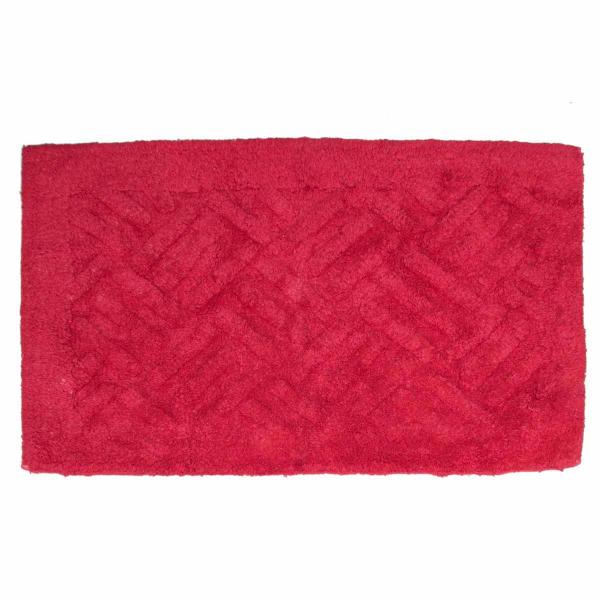 Πατάκι Μπάνιου (50x80) Viopros Άλφα Κόκκινο