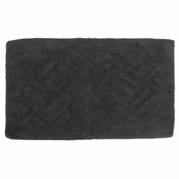 Πατάκι Μπάνιου (50x80) Viopros Άλφα Μαύρο