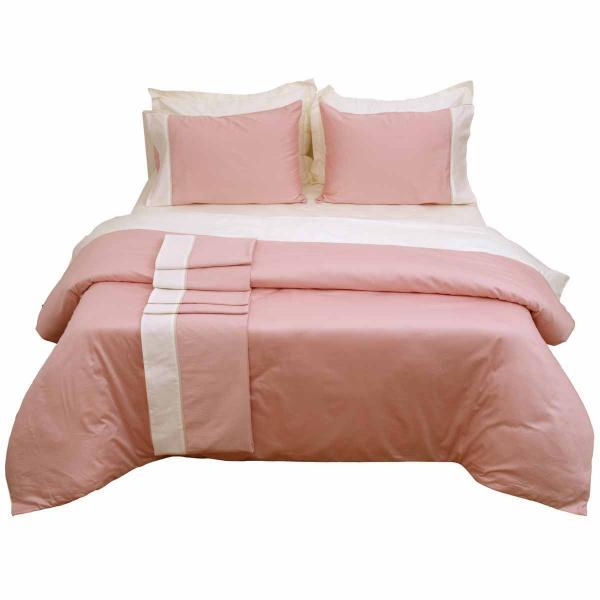 Σεντόνια Υπέρδιπλα (Σετ) Anna Riska Luxury Bicolour Blush Pink/I