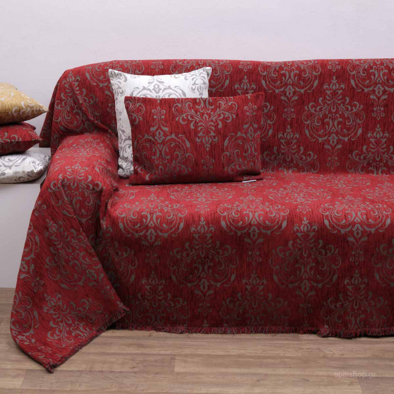 Ριχτάρι Πολυθρόνας (180x150) Anna Riska 1437 Red