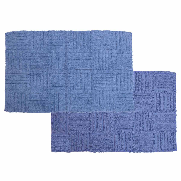 Πατάκι Μπάνιου 2 Όψεων (50x80) Anna Riska Domino Blue