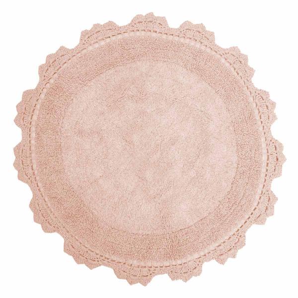 Πατάκι Μπάνιου (Φ60) Anna Riska Lace Blush Pink