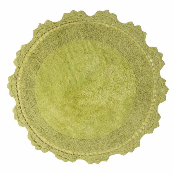 Πατάκι Μπάνιου (Φ60) Anna Riska Lace Green Apple