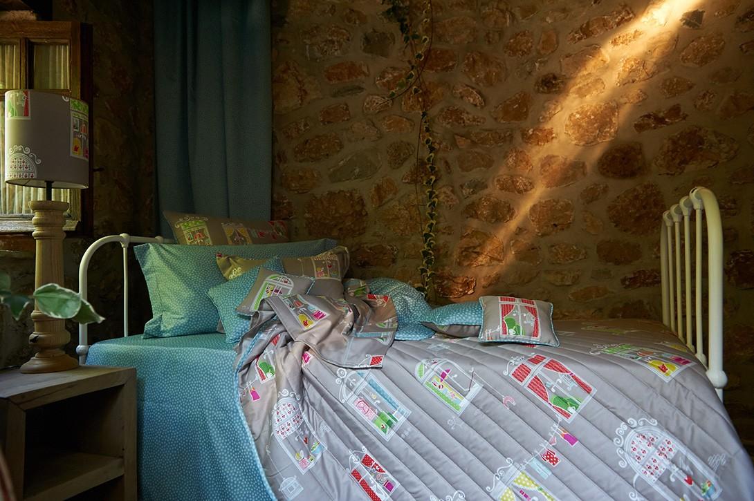 Παιδική Κουρτίνα (180x275) Με Θηλιές Down Town Dreamland D0013 home   κουρτίνες   κουρτίνες παιδικές