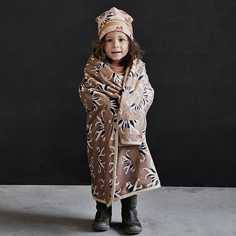 Κουβέρτα Fleece Αγκαλιάς Elodie Pearl Velvet White Tiger Warm Sand BR75102
