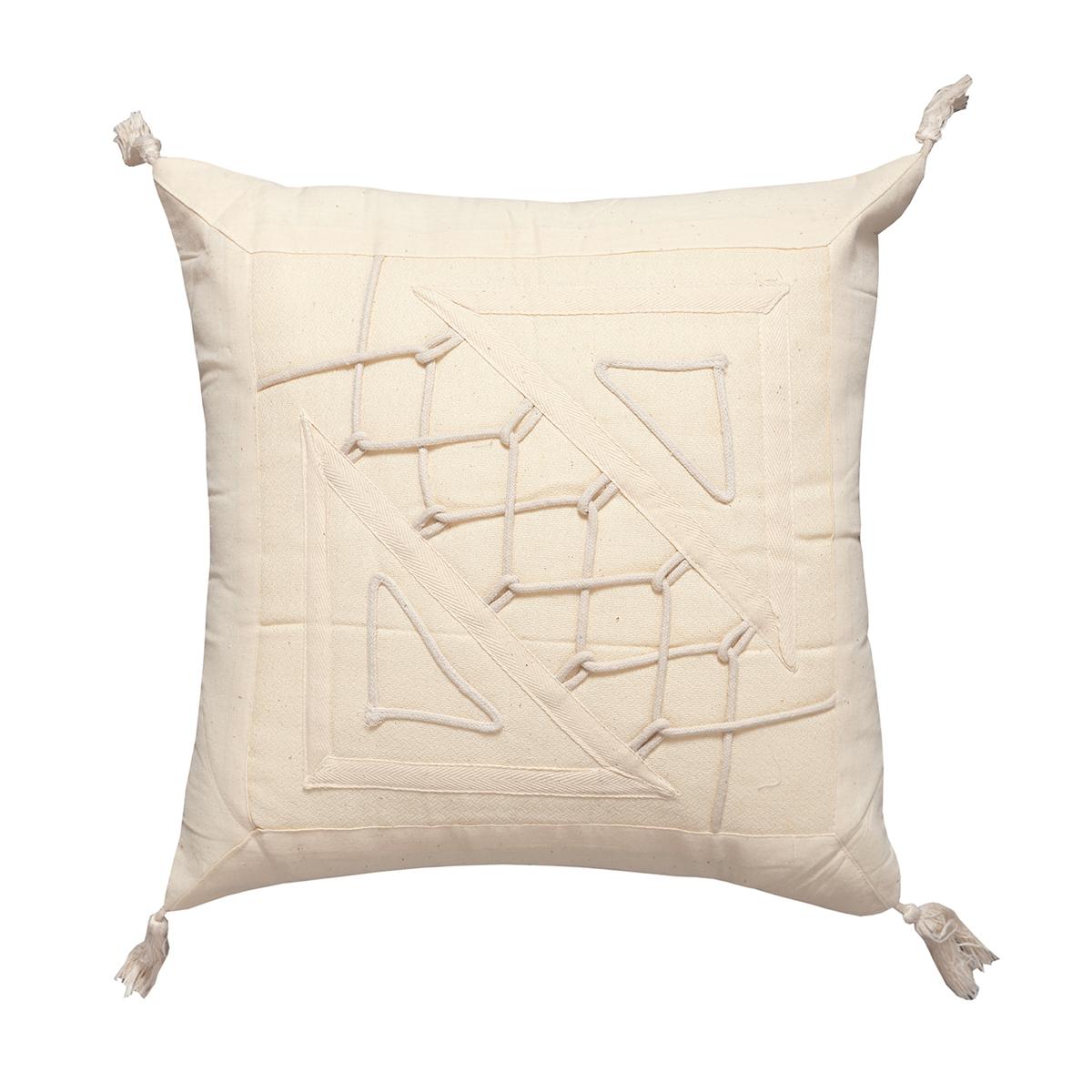 Διακοσμητική Μαξιλαροθήκη (45×45) Silk Fashion Κορδόνι 1