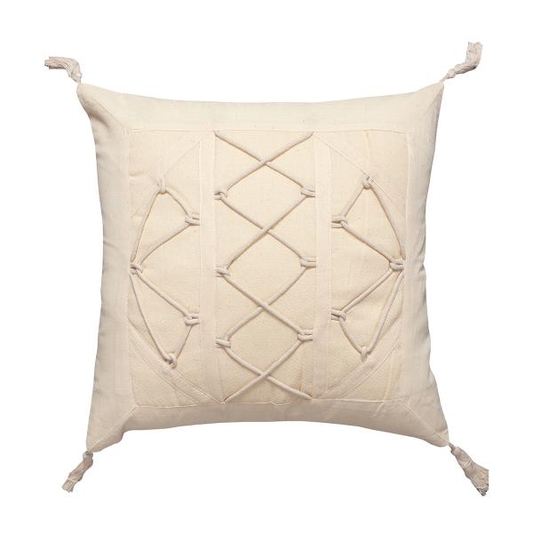 Διακοσμητική Μαξιλαροθήκη (45x45) Silk Fashion Κορδόνι 3