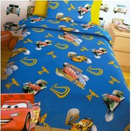 Πάπλωμα Μονό (Σετ) Disney Cars Blue