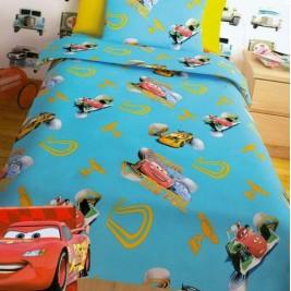 Σεντόνια Μονά (Σετ 2 Τμχ) Disney Cars Turquoise