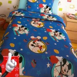 Σεντόνια Μονά (Σετ 2 Τμχ) Disney Mickey Blue