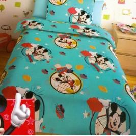 Σεντόνια Μονά (Σετ 2 Τμχ) Disney Mickey Turquoise