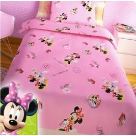 Σεντόνια Μονά (Σετ 2 Τμχ) Disney Minnie Pink