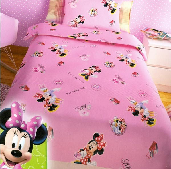 Παπλωματοθήκη Μονή (Σετ) Disney Minnie Pink