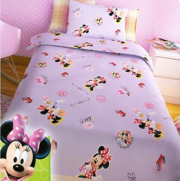 Παπλωματοθήκη Μονή (Σετ) Disney Minnie Lilac