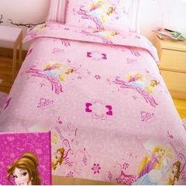 Κουβερλί Μονό (Σετ) Disney Princess Pink