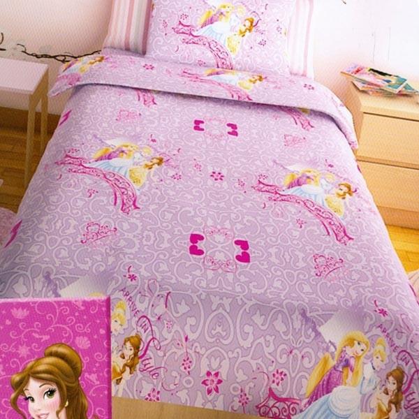 Παπλωματοθήκη Μονή (Σετ) Disney Princess Lilac