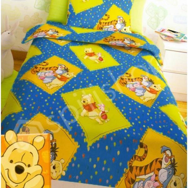 Σεντόνια Μονά (Σετ 2τμχ) Disney Winnie Blue