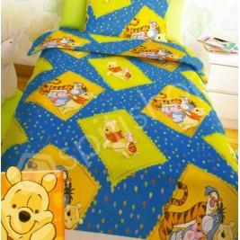 Πάπλωμα Μονό (Σετ) Disney Winnie Blue