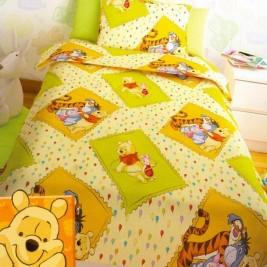 Σεντόνια Μονά (Σετ 2 Τμχ) Disney Winnie Yellow