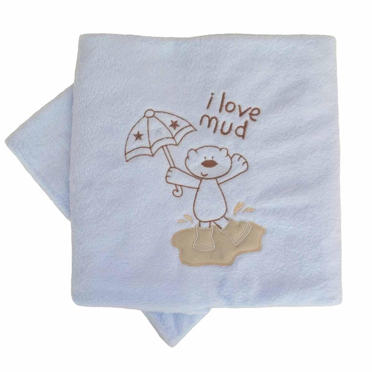 Κουβέρτα Fleece Κούνιας Κόσμος Του Μωρού Mud Σιέλ