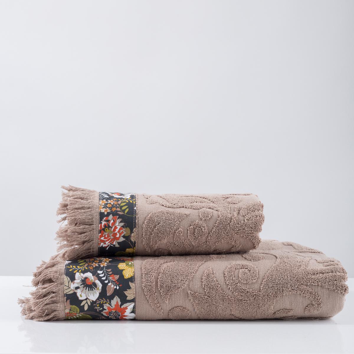 Πετσέτα Προσώπου (50×90) White Fabric Airy Beige