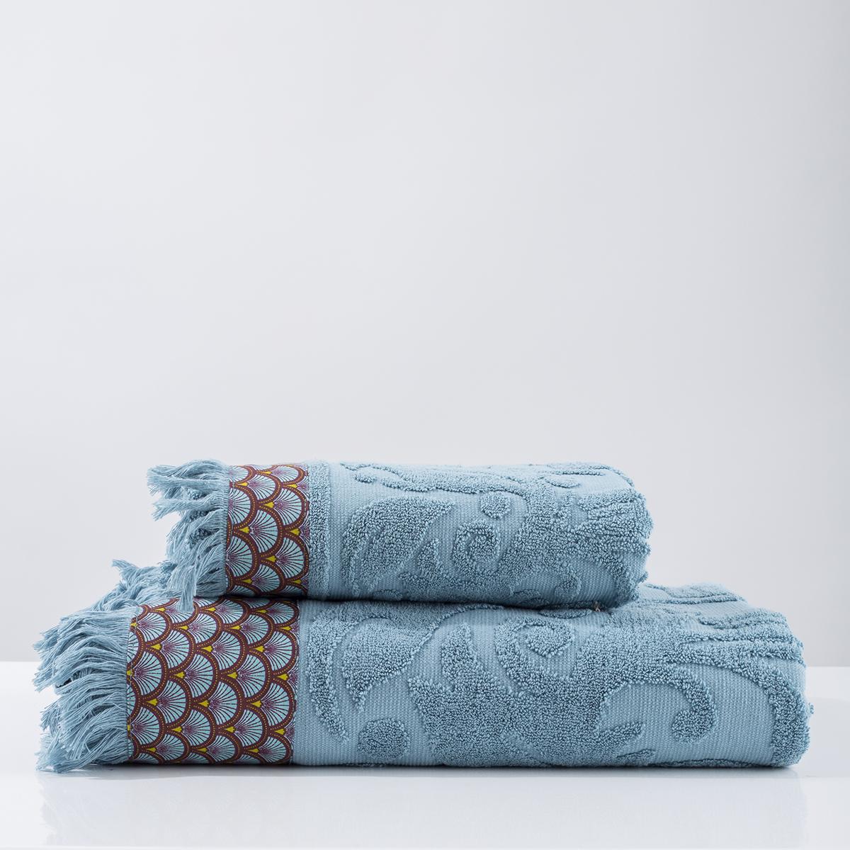 Πετσέτα Προσώπου (50×90) White Fabric Airy Blue