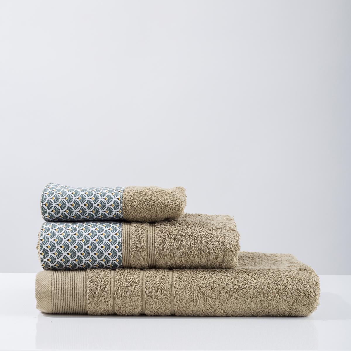 Πετσέτα Χεριών (30×50) White Fabric Rani Green