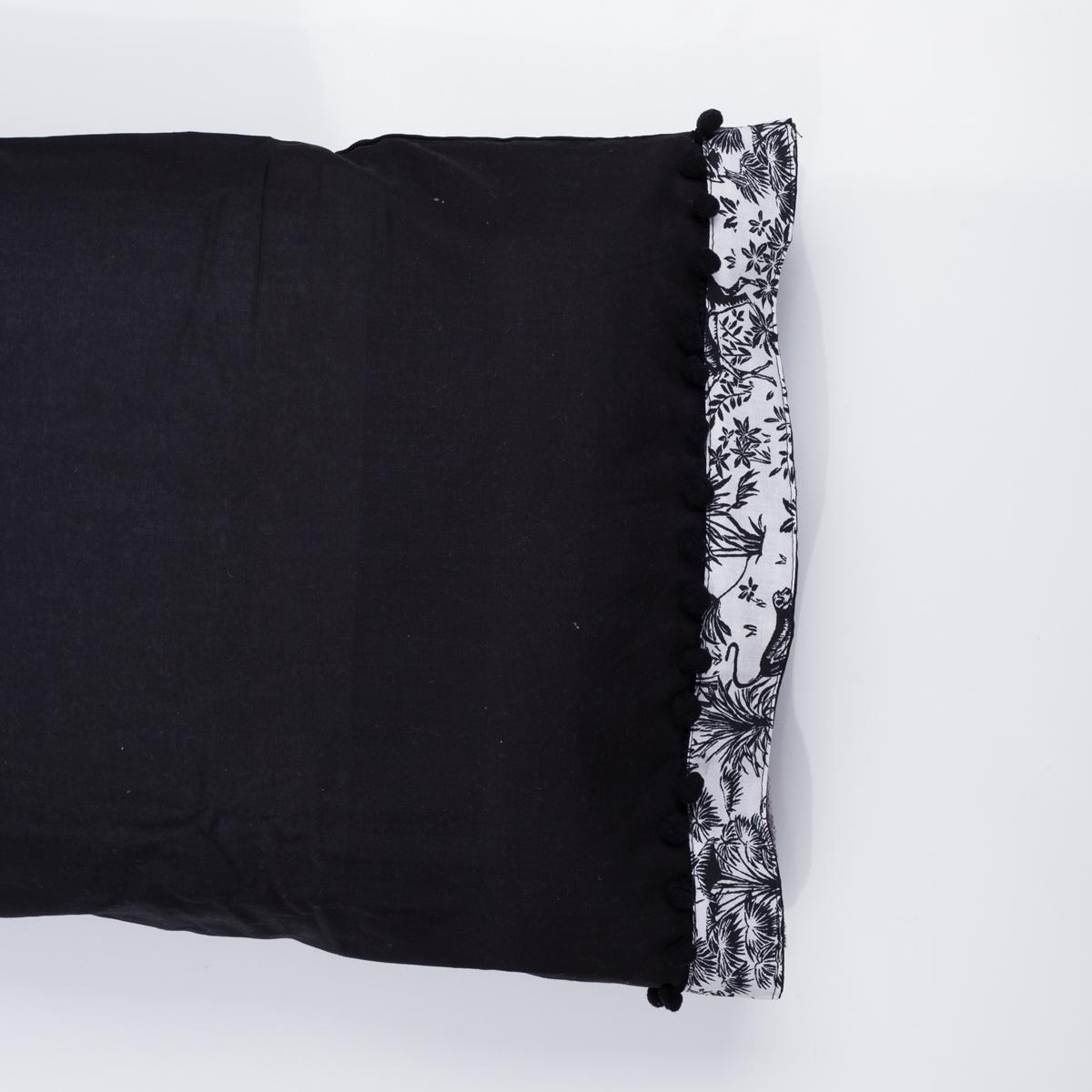 Ζεύγος Μαξιλαροθήκες White Fabric Syrna Black