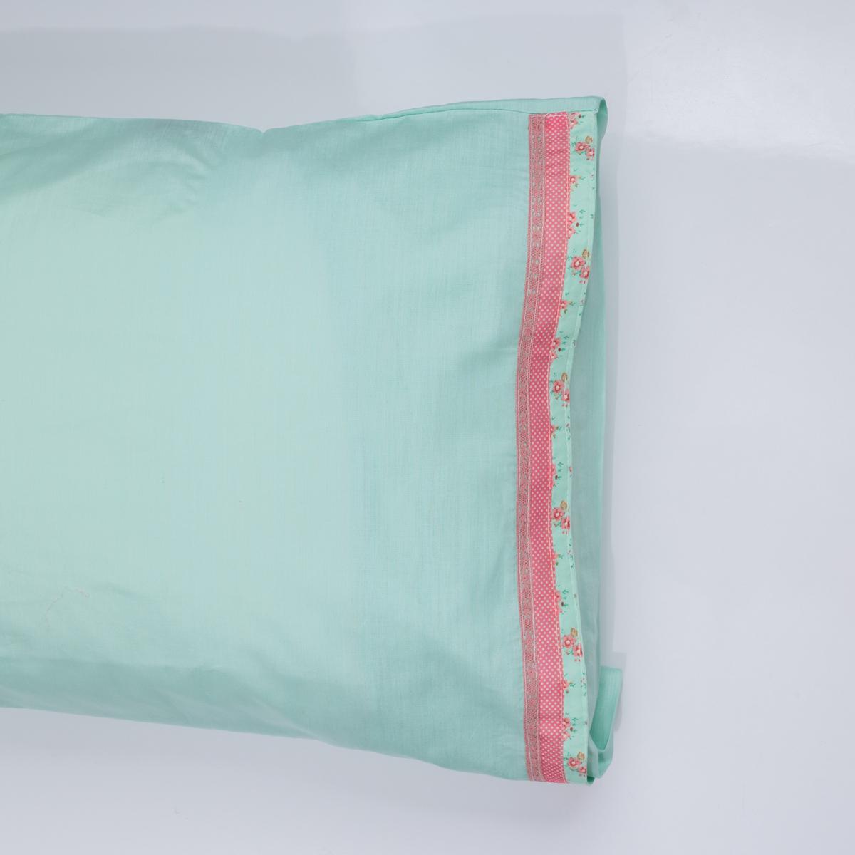Ζεύγος Μαξιλαροθήκες White Fabric Kitty Mint